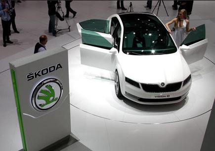 SKODA汽车展会设计搭建-莱晟展会案例